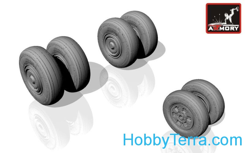 Wheels set 1/72 for Sukhoj Su-24 Fencer, early