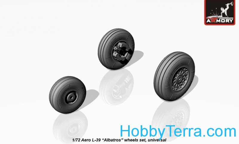 Wheels set 1/72 for Aero L-39 Albatros