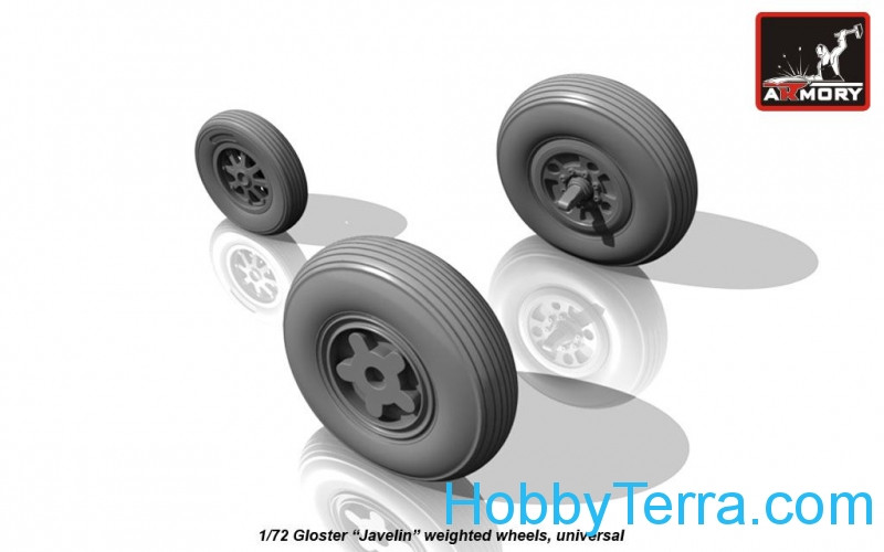 "Wheels set 1/72 for Gloster ""Javelin"""