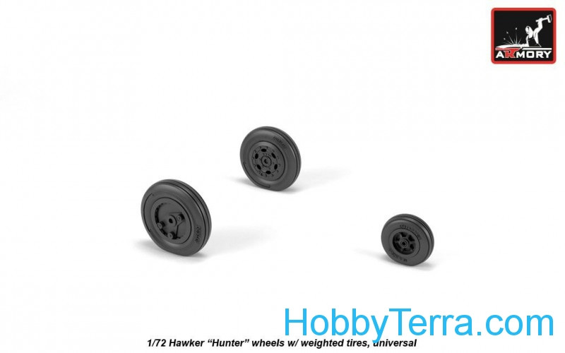 "Wheels set 1/72 Hawker ""Hunter"", weighted"