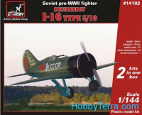 Polikarpov I-16 type 5/10, Soviet pre-WWII fighter (2 sets in the box)