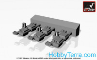 1:72 tracks (hollow teeth) M1 Abrams series late type w/ drive wheels