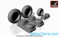 Wheels set 1/32 for Sukhoj Su-27 Flanker, early type