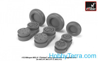 Wheels set 1/32 MiG-21 Fishbed w/weighted tires, early