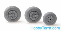 Armory  32012 Wheels set 1/32 MiG-19 Farmer w/weighted tires