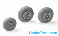 Wheels set 1/48 for MiG-19 Farmer w/weighted tires