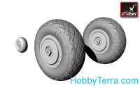 Wheels set 1/72 Tupolev Tu-2 (late type tires), universal