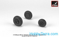 Wheels set 1/72 MiG-21 Fishbed w/weighted tires, early
