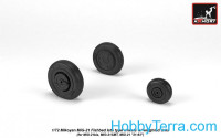 Wheels set 1/72 MiG-21 Fishbed w/weighted tires, late