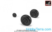 Wheels set 1/72 Junkers Ju 88A-4 late w/weighted tires