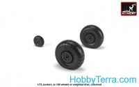 Wheels set 1/72 Junkers Ju 188 w/weighted tires