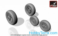 Wheels set 1/72 for F-104G Starfighter (w/ optional nose wheels)