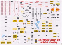 Decal 1/48 for Su-24M Fencer D