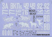 Decal 1/48 for Hawker Hurricane IIb, in the Russian Sky