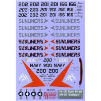 "Decal for Modern US NAVY F/A-18E Super Hornet VFA-81 ""Sunliners"""