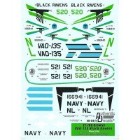 "Decal for Modern US NAVY EA-18G Growler VAQ-135 ""Black Ravens"""