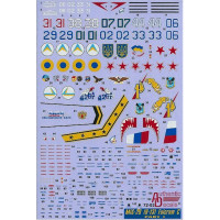 Decal 1/72 for MiG-29 Fulcrum C (9-13), Part I