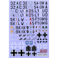 Decal 1/72 for Junkers Ju-88A-4 Unknown schemes and markings