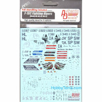 Decal 1/72 for F-16С Fighting Vipers with mission marking (Blks. 30, 40, 42, 50, 52)