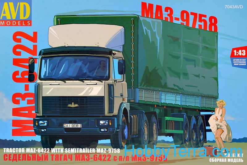 MAZ-6422 with semi-trailer MAZ-9758