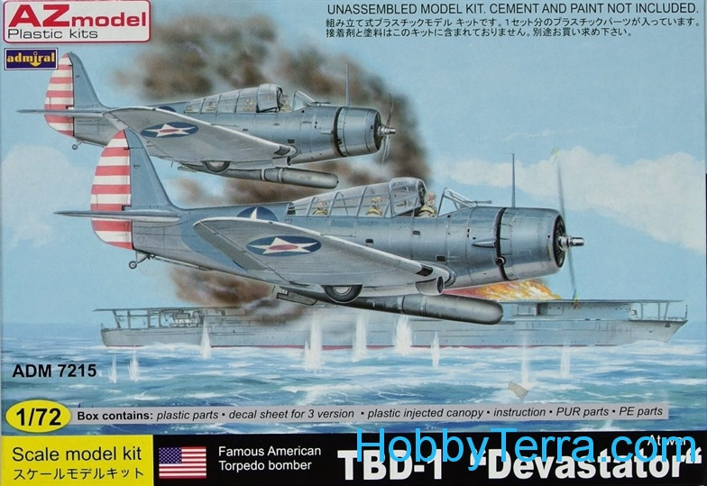 AZmodel  72015 TBD-1 Devastator 'At War' (3xUS camo,1942)