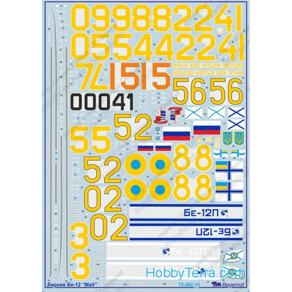Decal 1/72 for Beriev Be-12