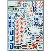 Decal 1/48 for Su-27 family