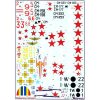 Decal 1/48 for Polikarpov I-16