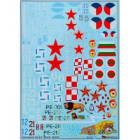 Decal 1/48 for Petlyakov Pe-2/Pe-3