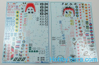 "Decal 1/72 for Sukhoi Su-24 ""Fencer"" family"
