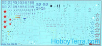 Decal 1/72 for T-50 PAK-FA, for Hobby Boss kit