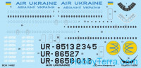 Decal 1/144 for IL-62M Air Ukraine