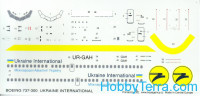 Decal 1/144 for Boeing 737-300 Ukraine International Airlines