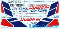 Decal 1/144 for Tu-154M Cubana