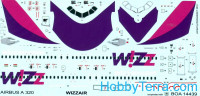Decal 1/144 for Airbus A-320 (Wizzair)