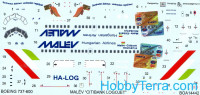 "Decal 1/144 for Boeing 737-600 ""Malev Citibank"""
