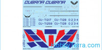 Decal 1/144 for IL-62M Cubana