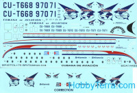 "Decal 1/144 for Bristol 175 Britannia ""Cubana"""