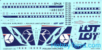 Decal 1/144 for ERJ-195 LOT