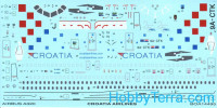 Decal 1/144 for Airbus A320, Croatia Airlines