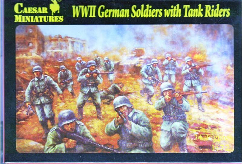 WWII German Soldiers with Tank Riders