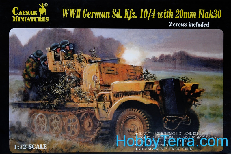 WWII German Sd. Kfz.10/4 with 20mm Flak 30