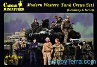 Modern Western tank crews Set.1 (Germany & Israel)