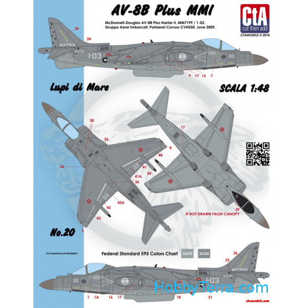 "CTA  4805 Decal 1/48 ""Lupi di Mare"" (Italian Navy AV-8B Plus)"