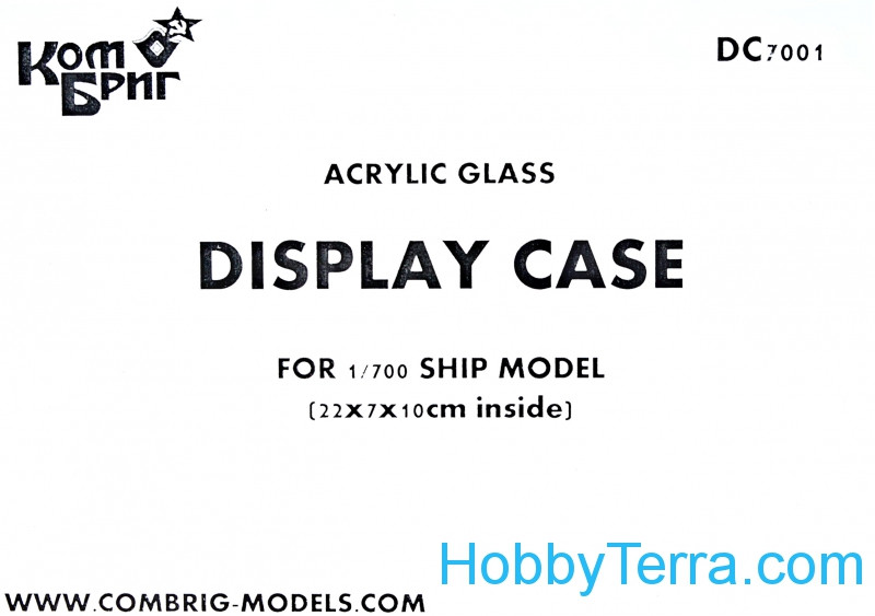 Display case for 1/700 ship model