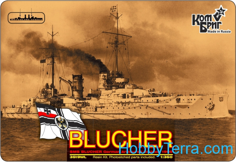 Combrig  3519WL German Blucher Armored Cruiser, 1909 (Water Line version)