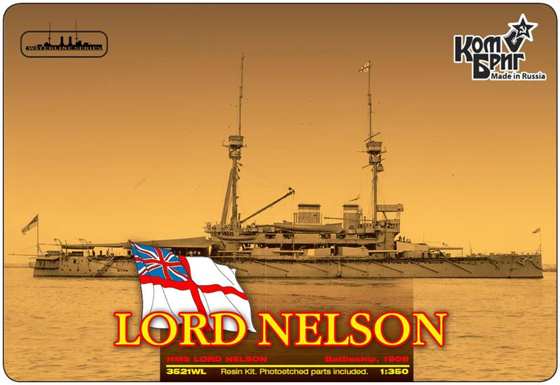 HMS Lord Nelson Battleship, 1908 (Water Line version)