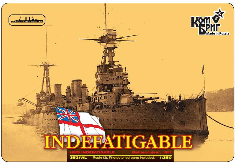 HMS Indefatigable Battlecruiser (Water Line version)