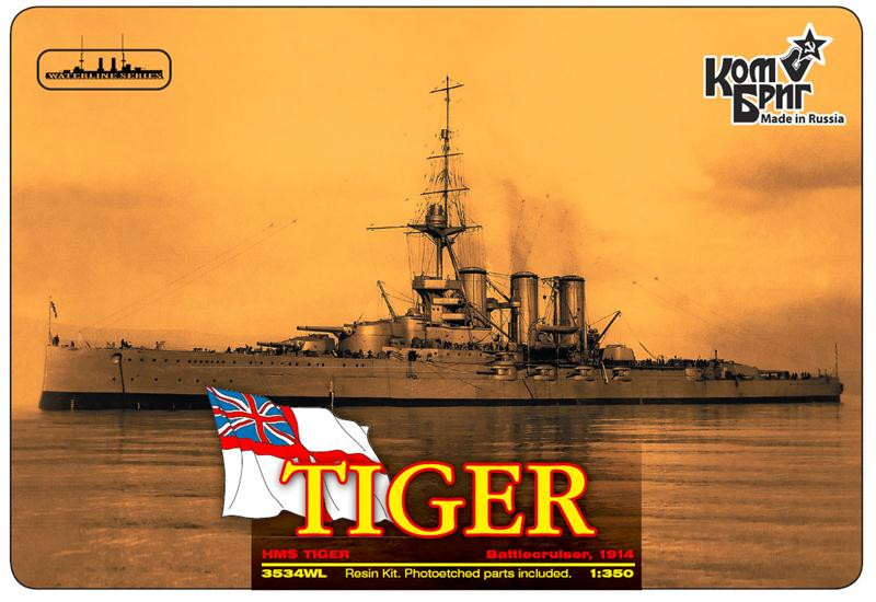Combrig  3534WL HMS Tiger Battlecruiser, 1914 (Water Line version)