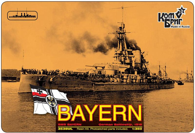 "Combrig  3536FH German Bayern Battleship, 1916 (Full Hull version)<span style=""color: #ff0000""> FREE SHIPPING</span>"